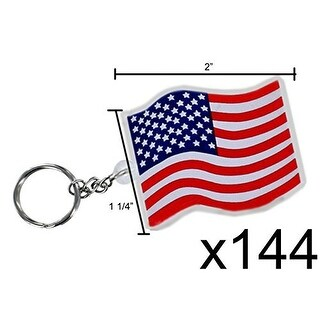 USA Flag Key Chains (144 pc)