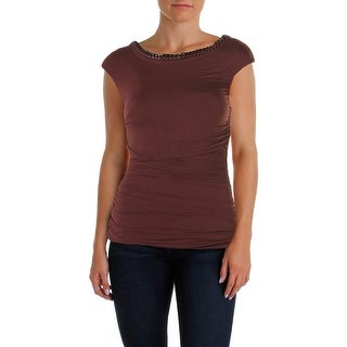 Bailey 44 Womens Avenue Top Ruched Chain Tank Top