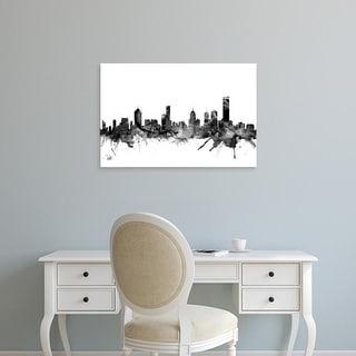 Easy Art Prints Michael Tompsett's 'Melbourne Australia Skyline' Premium Canvas Art