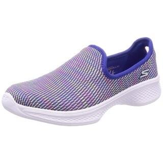Skechers Kids Womens Go Walk 4, Select 81165L Blue/Multi 6 Big Kid M