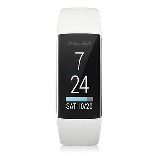 A360 White Small Fitness Tracker With Wrist-Based Heart Rate