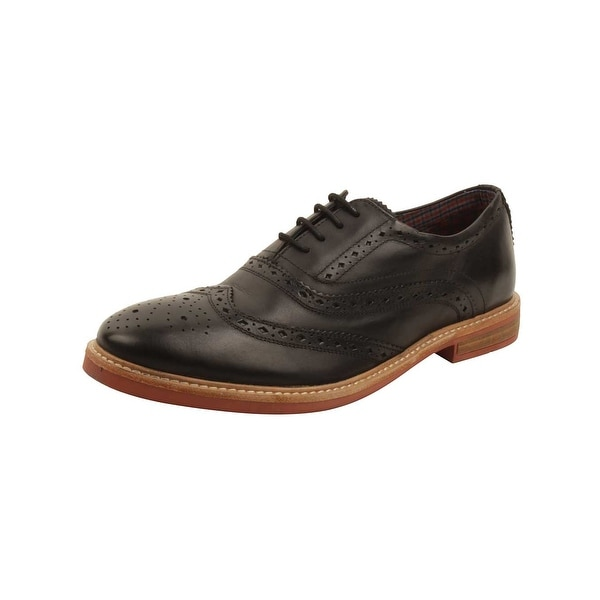 Ben Sherman Brent Wingtip Oxfords in Black