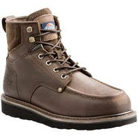 "Dickies Men's Outpost 6"" Work Boot Brown Full Grain Leather"