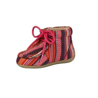 Blazin Roxx Western Shoes Girls Riley Laced Moc Toe Serape - multi-color