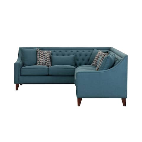 Chic Home Fulla Linen Tufted Back Rest Modern Contemporary Right Facing Sectional Sofa