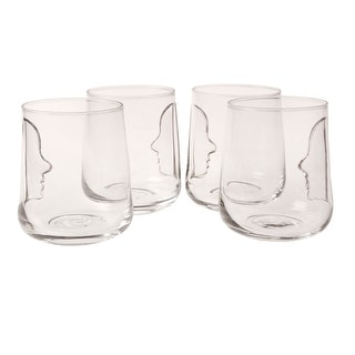 Silhouette Glasses - Set Of 4 - Lead-Free Crystal - 16 Ounces