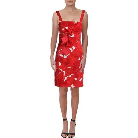 Trina Turk Womens Lani Mini Dress Floral Sheath