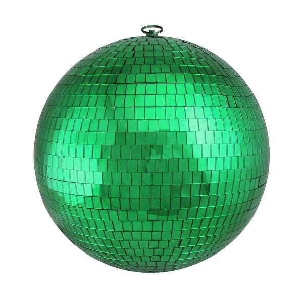 "Green Mirrored Glass Disco Ball Christmas Ornament 12"" (300mm)"