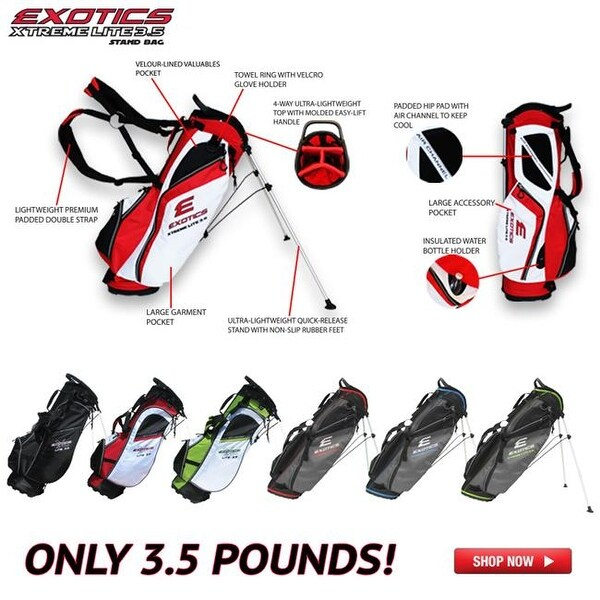 Tour Edge Golf Exotics Extreme Lite 3 5 Stand Bag Red