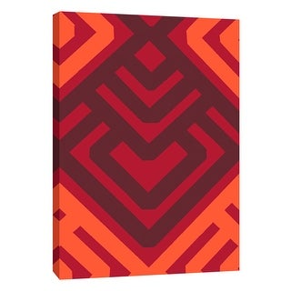 "PTM Images 9-108744  PTM Canvas Collection 10"" x 8"" - ""Monochrome Patterns 6 in Red"" Giclee Abstract Art Print on Canvas"