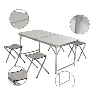 Link to 120 x 60 x 70 4Ft Portable Multipurpose Folding Table White Similar Items in Home Office Furniture