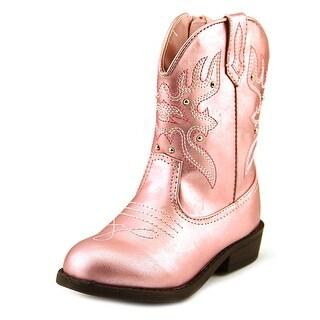 Nina Mirabela Round Toe Synthetic Western Boot