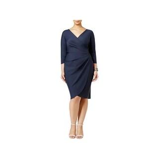 Alex Evenings Womens Plus Cocktail Dress Embellished Sheath