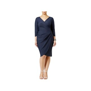 Alex Evenings Womens Plus Cocktail Dress Embellished Sheath