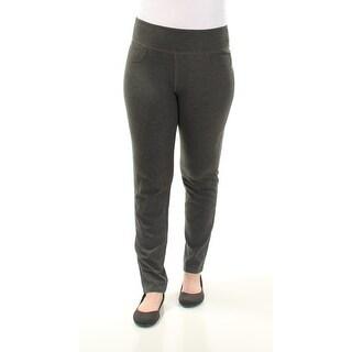 Womens Gray Casual Leggings Size 0