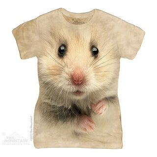 The Mountain Cotton Hamster Face Design Novelty Womens T-Shirt