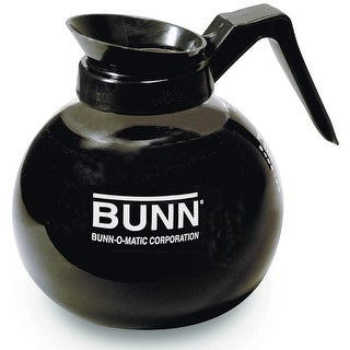 Bunn 42400.0101 Glass Coffee Decanter, 12-Cup, Black