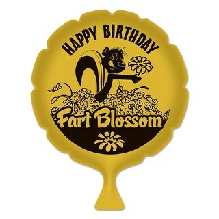 """Pack of 6 Yellow """"Birthday Fart Blossom"""" Whoopee Cushion Birthday Party Favors 8"""""""