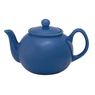 HIC NT7806BB Ceramic Teapot With Infuser, Bayberry, 32 Oz.