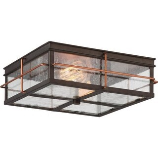 "Nuvo Lighting 60/5834 Howell 2 Light 12"" Wide Outdoor Flush Mount Square Ceiling"