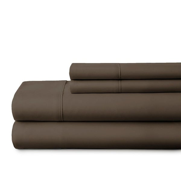 100% Cotton Flat Sheet Set TC800 - Deep Coffee (Queen)