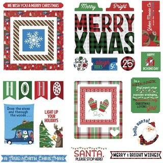 O Canada Christmas Ephemera Cardstock Die-Cuts-