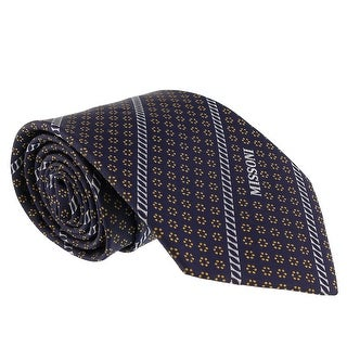Missoni Micro Floral Navy Blue/Gold Woven 100% Silk Tie