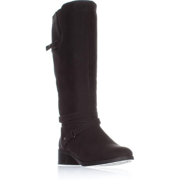 Easy Street Carlita Wide Calf Riding Boots, Brown