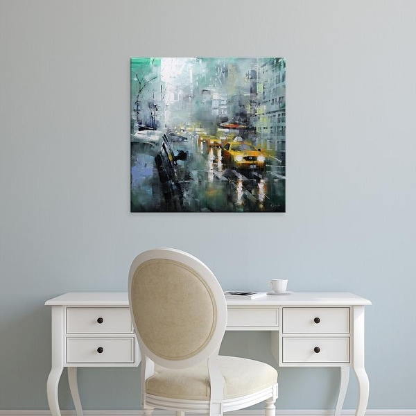 Easy Art Prints Mark Lague's 'New York Rain' Premium Canvas Art
