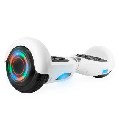 Hoverboard with LED Wheels/Rims and Bluetooth Speakers in White