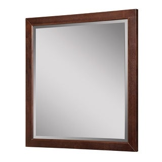 """DecoLav 9714 Adrianna 30"""" Square Wall Mirror with Solid Wood Frame - N/A"""