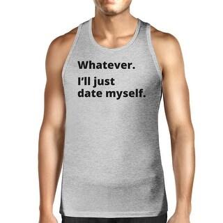 Date Myself Men's Gray Cotton Tanks Casual Summer Sleeveless Shirt