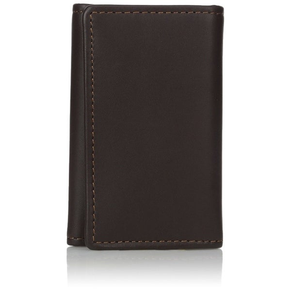 Dopp Men's Leather Key-tainer with detachable Outside Key Ring, Brown, One Size - Brown