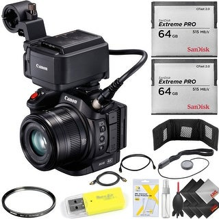 Canon XC15 4K Professional Camcorder + (2) 64 GB Cfast Memory Cards Kit