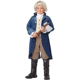 California Costumes George Washington (Thomas Jefferson) Child Costume - Blue
