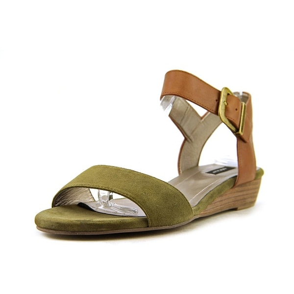 Array Sammy Women Open Toe Suede Green Wedge Sandal