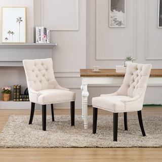 Link to Grandview Tufted Upholstered Linen Fabric Dining Chair Similar Items in Dining Room & Bar Furniture