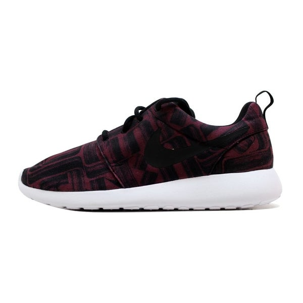 c3951337deac Shop Nike Women s Roshe One 1 Print Night Maroon Black-White 844958 ...