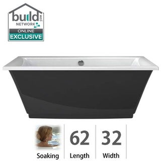 "Jacuzzi FIF6232BCXXXX Fiore 62"" Soaking Freestanding Bathtub with Center Drain"