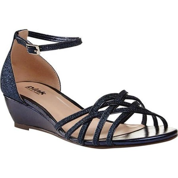 c2c9d1535 Shop Pink Paradox London Women's Avery Wedge Sandals Navy Synthetic - On  Sale - Free Shipping Today - Overstock - 13832444