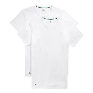 Luxus kaufen beste Turnschuhe langlebig im einsatz LACOSTE Men's White Cotton Crew Neck Short Sleeve Logo Undershirt 2 Pack |  Overstock.com Shopping - The Best Deals on Underwear
