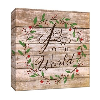 "PTM Images 9-147437  PTM Canvas Collection 12"" x 12"" - ""Joy to the World"" Giclee Christmas Art Print on Canvas"