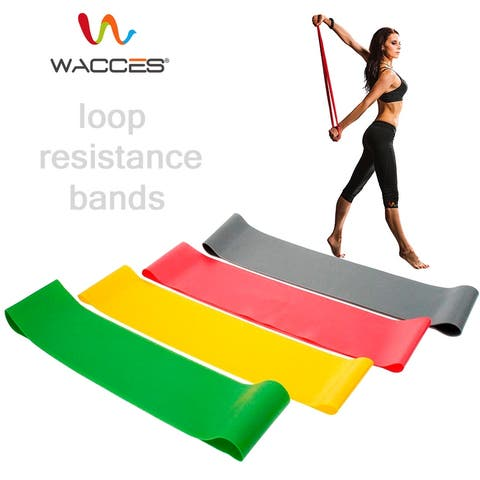Wacces Resistance Loops Band Set for Exercise - Light-Low-Medium-Heavy