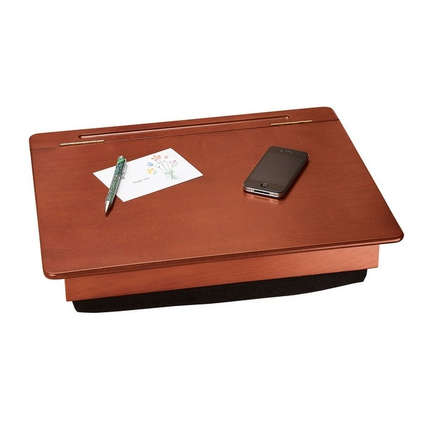 Shop Creative Manufacturing Wood Lap Desk with Storage ...