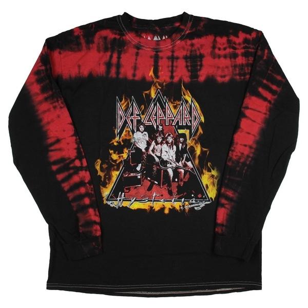 901809312b381 Shop Def Leppard Men's Hysteria Tie Dye Long Sleeve Tee Shirt ...