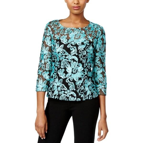 54ca5915996c4b Shop Alex Evenings Womens Dress Top 3 4 Sleeves Soutache - Free Shipping  Today - Overstock - 17159950