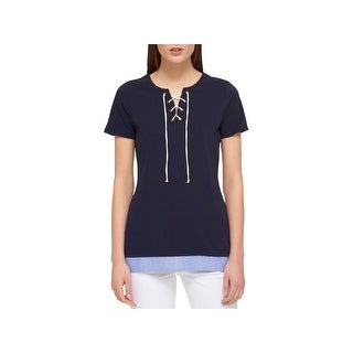 Tommy Hilfiger Womens Casual Top Lace-Up Mixed Media (3 options available)