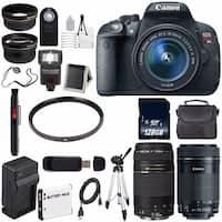 Canon EOS Rebel T5i 18 MP CMOS Digital SLR Camera w/EF-S 18-55mm f/3.5-5.6 Lens (International Model) Bundle