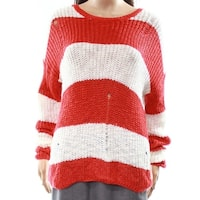 Cotton Emporium Women's Large Striped Knitted Sweater