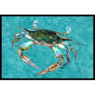Carolines Treasures 8657-JMAT Crab Indoor Or Outdoor Doormat 24 x 36 in.